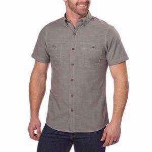G. H. Bass Pewter Short Sleeve Shirt  SIZE XL